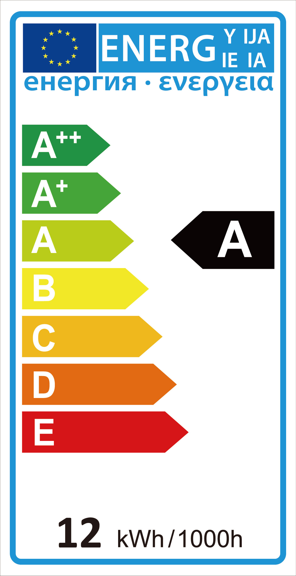 Label of Efficiency Energy in LED Lighting
