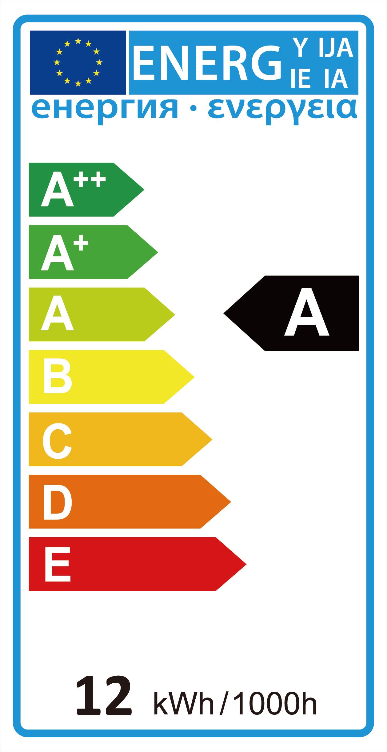 Label of Efficiency Energy in LED Lighting